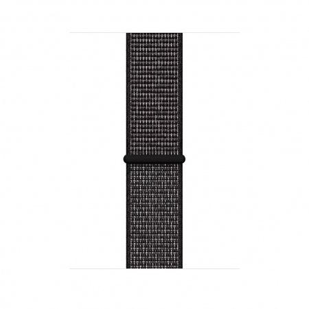 Apple Watch 44mm Nike Band: Black Nike Sport Loop