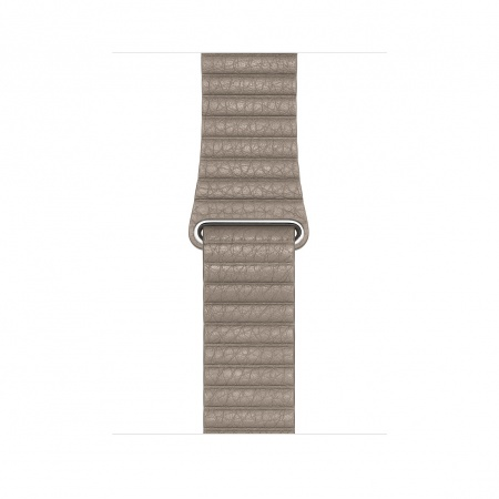Apple Watch 44mm Band: Stone Leather Loop - Medium (DEMO)