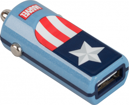 Tribe Marvel Captain America Car Charger - Blue