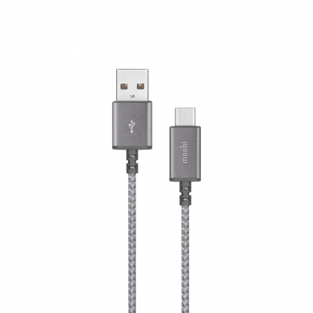 Moshi Integraª USB-C to USB-A Charge Cable (0.25 m) - Titanium Gray