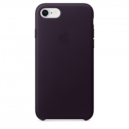 Apple iPhone 8/7 Leather Case - Dark Aubergine   (Seasonal Autumn2017)