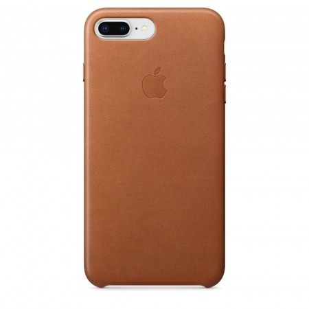 Apple iPhone 8 Plus/7 Plus Leather Case - Saddle Brown