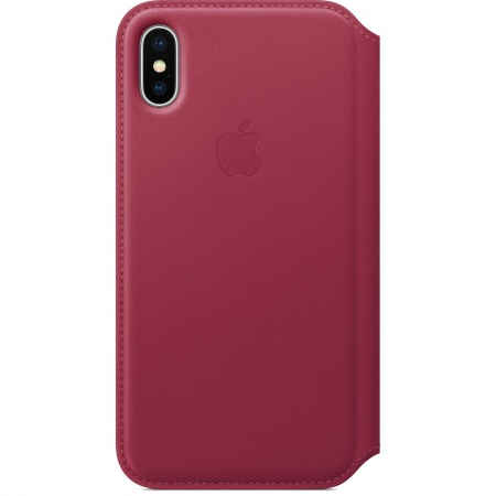 Apple iPhone X Leather Folio - Berry   (Seasonal Autumn2017)