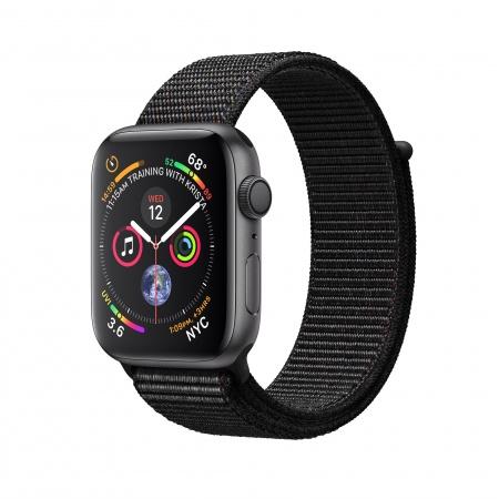 Apple Watch Series 4 GPS, 40mm Space Grey Aluminium Case with Black Sport Loop