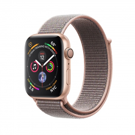 Apple Watch Series 4 GPS, 40mm Gold Aluminium Case with Pink Sand Sport Loop