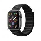 Apple Watch Series 4 GPS, 44mm Space Grey Aluminium Case with Black Sport Loop
