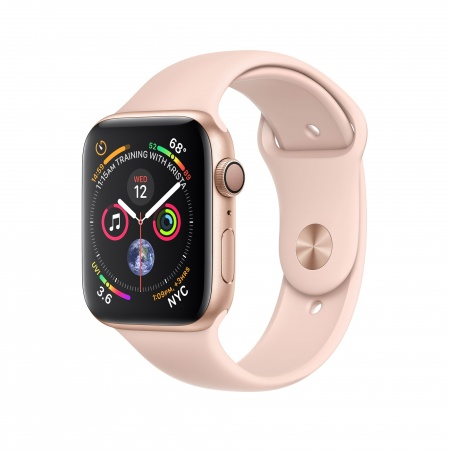 Apple Watch Series 4 GPS, 44mm Gold Aluminium Case with Pink Sand Sport Band