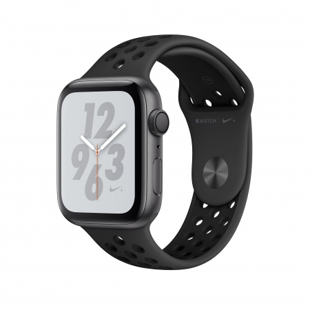 Apple Watch Nike+ Series 4 GPS, 44mm Space Grey Aluminium Case with Anthracite/Black Nike Sport Band