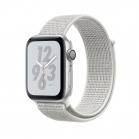 Apple Watch Nike+ Series 4 GPS, 40mm Silver Aluminium Case with Summit White Nike Sport Loop