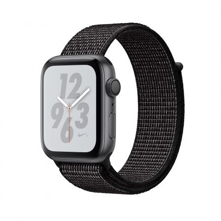 Apple Watch Nike+ Series 4 GPS, 40mm Space Grey Aluminium Case with Black Nike Sport Loop