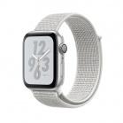Apple Watch Nike+ Series 4 GPS, 44mm Silver Aluminium Case with Summit White Nike Sport Loop