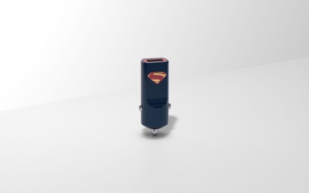Tribe DC Movie Superman USB Car Charger - Black